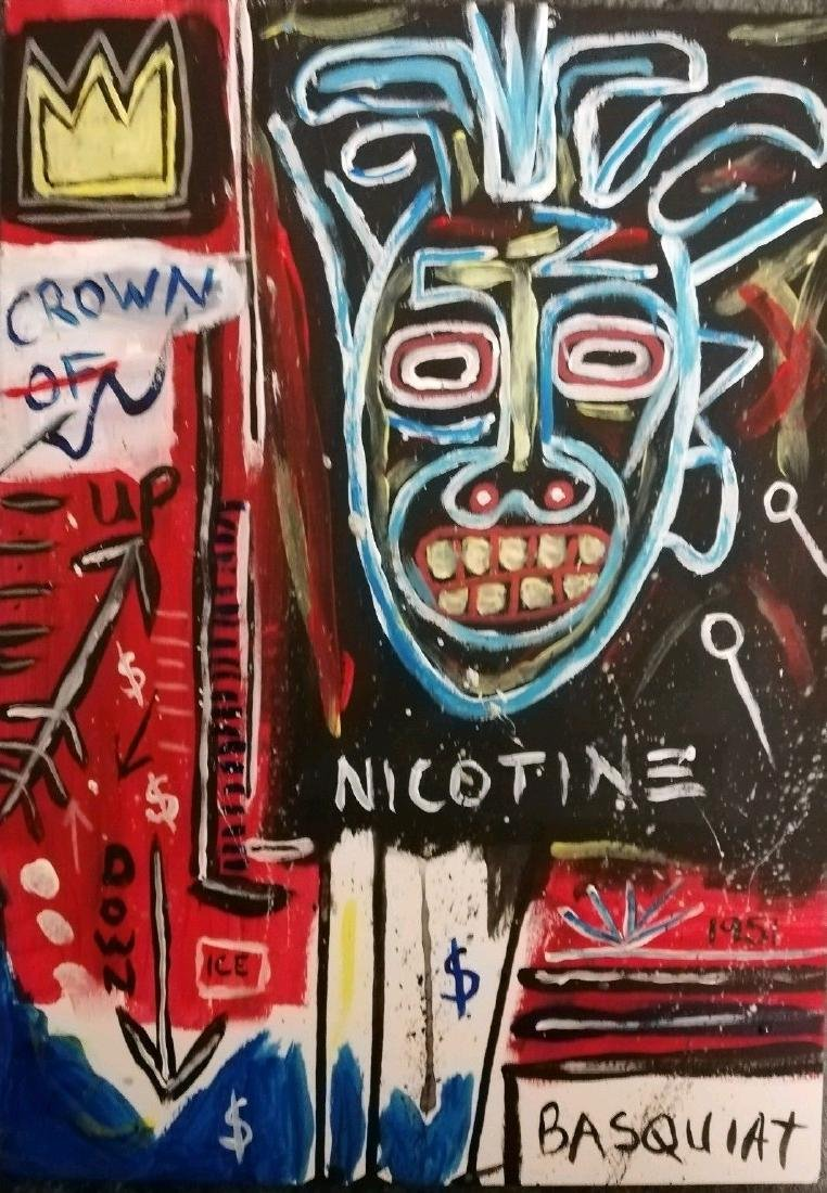Mixed Media Crown Jean-Michel Basquiat-Style