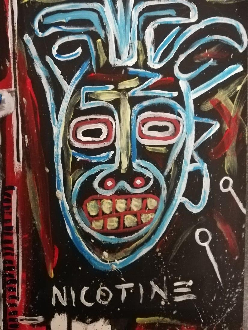 Mixed Media Crown Jean-Michel Basquiat-Style - 2