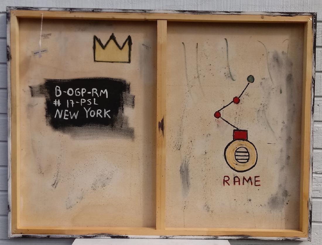 Jean-Michel Basquiat Style N.Y Street Art Painting - 2