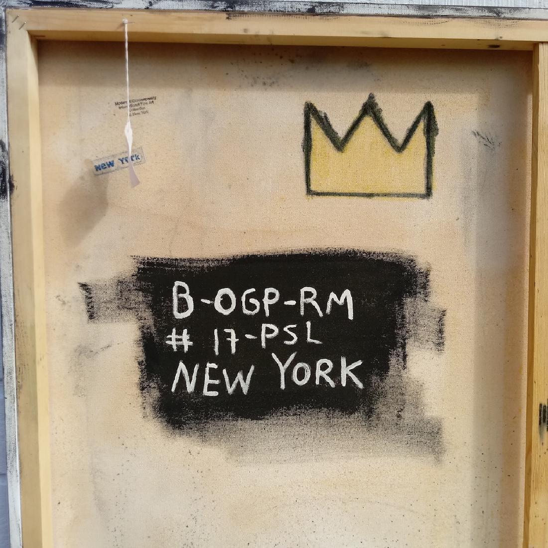 Jean-Michel Basquiat Style N.Y Street Art Painting - 4