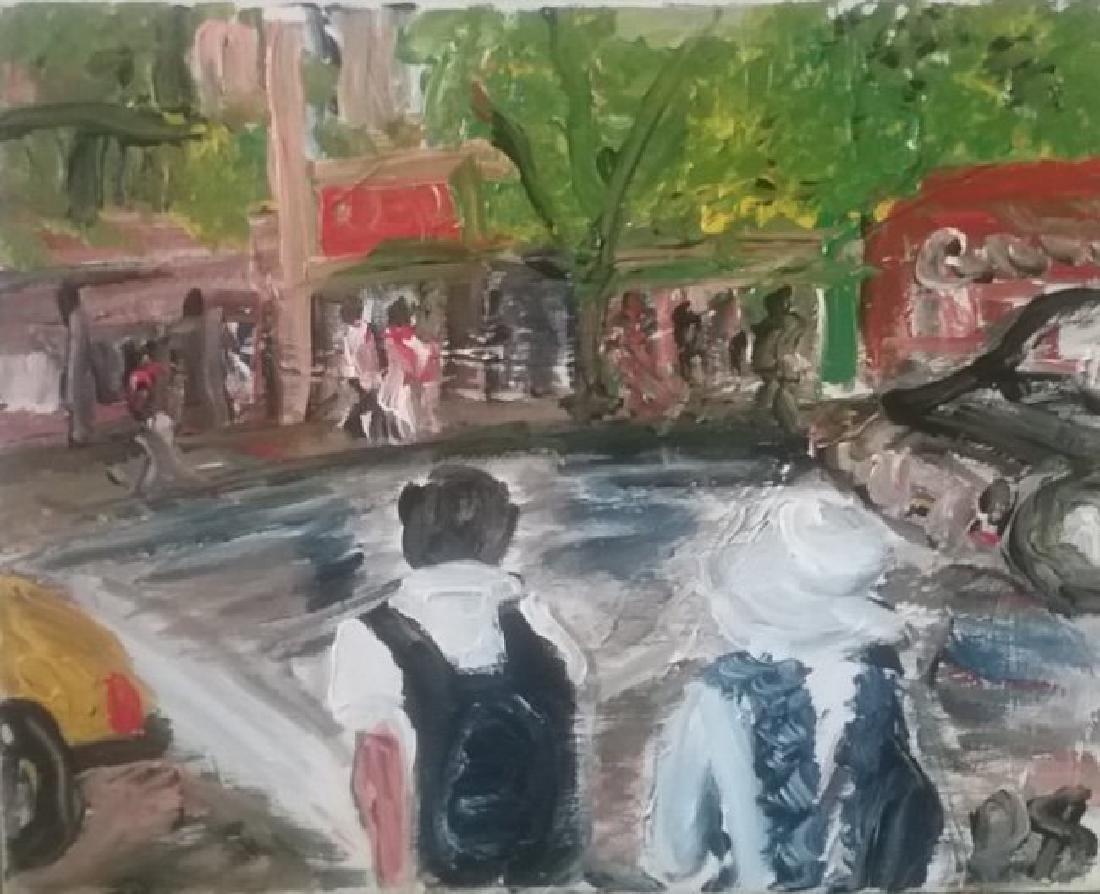 Original Street N York Impressionism Plain Air Painting