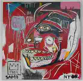 Jean-Michel Basquiat Painting on Canvas