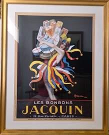 Les BonBons Jacquin 12. Rue Pernelle Paris Print Poster
