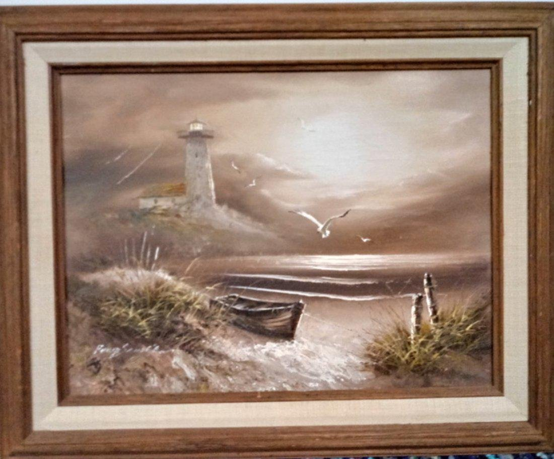 Original Painting Landscaping Sign on Canvas-Framed