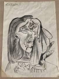 Pablo Picasso Avant-Garde Cubist Signed