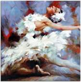 Ballet Dancer Oil Painting On Canvas