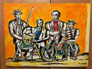 FERNAND LEGER FRENCH Oil Painting On Canvas