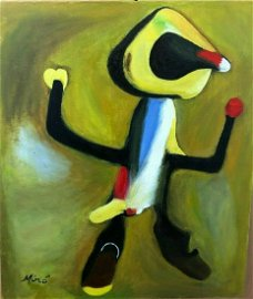 JOAN MIRO Oil Painting On Canvas