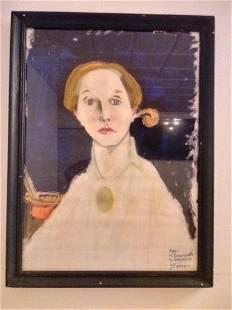 After Helene Schjerfbeck Self Portrait