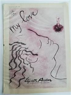 Jean Cocteau VINTAGE ORIGINAL MAGAZINE ADVERTISEMENT