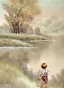 Giglee on Canvas Framed