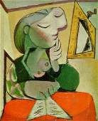 Pablo Picasso Cubist Oil Painting On Canvas
