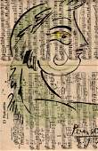 PABLO PICASSO DRAWING ON PAPER SIGNED
