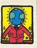 Keith Haring American 1958 1990  Mixed Media