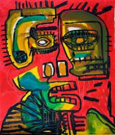 Jean Micheal Basquiat Abstract oil Painting on Canvas ,