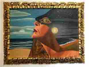 Salvador Dali Modernist Oil on Canvas