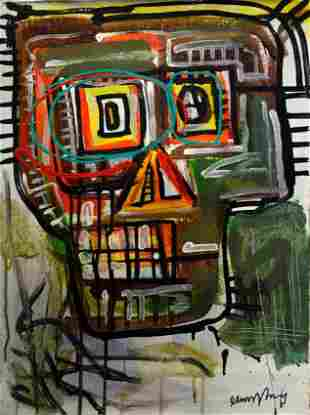 Jean Micheal Basquiat Abstract Painting on Canvas