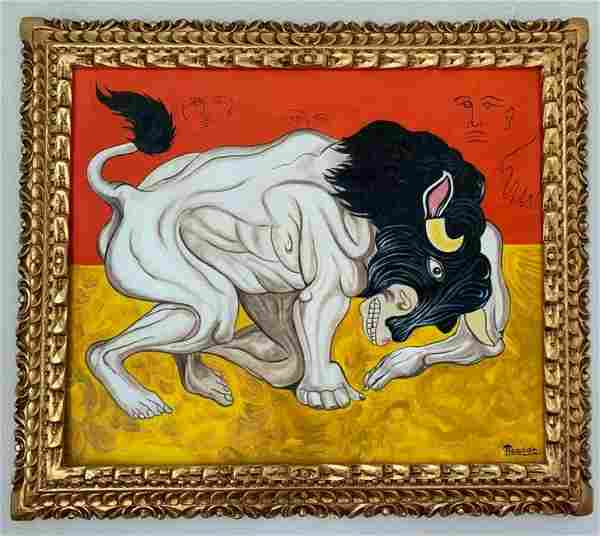 Pablo Picasso painting oil on canvas