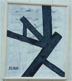 FRANZ KLINE ABSTRACT EXPRESSIONISM PAINTING ON Canvas