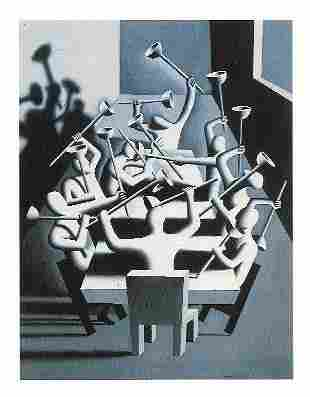 Kalev Mark Kostabi Print on Thick Paper