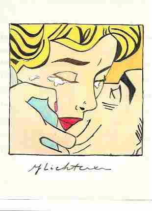The Style of Roy Lichtenstein drawing on Paper