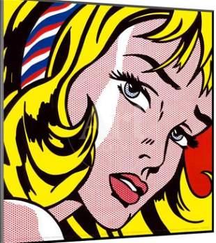 Roy Lichtenstein - Offset Print ON PAPER.