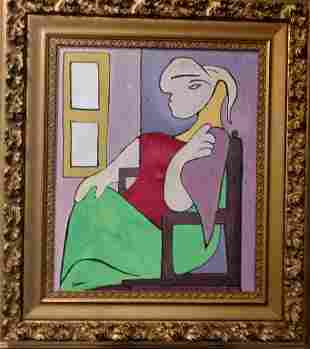 Pablo Picasso (Spanish, 1881-1973) Painting on C