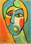 Abstract oil on canvas Alexej von Jawlensky