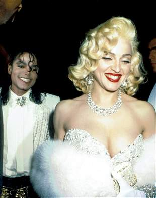 Michael Jackson and Marilyn Monroe Photo Print