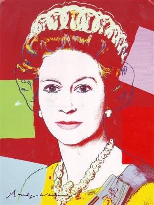 Andy Warhol Pop Art of Queen Elizabeth