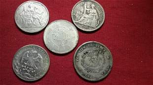 Lot of 5 Foreign Coins.