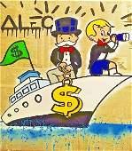 Alec monopoly Print on Canvas.