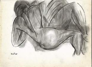 HENRI MATISSE CHARCOAL DRAWINGS ON PAPER