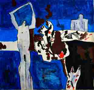 Abstract oil Painting Modern Art Keith Vaughan