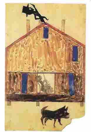 Bill Traylor Outsider Artist Postcard