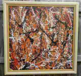 Jackson Pollock Abstract Expressionist Painting