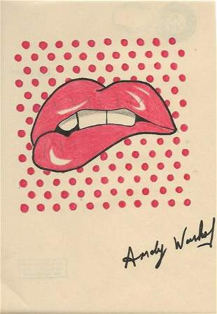 Andy Warhol Print on Thick Paper
