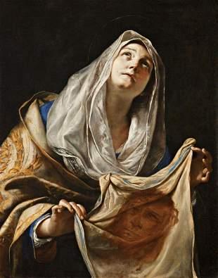 Saint Veronica with the Veil by Mattia  Fine Art Print