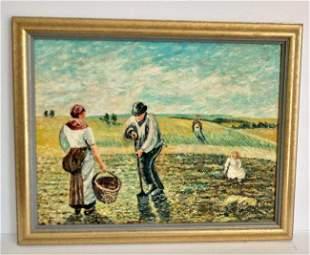 Camille Pissarro Impressionism Hand Painting
