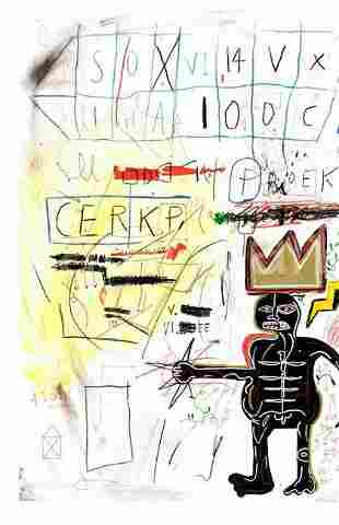 Jean Michel Basquiat Print on Thick Paper