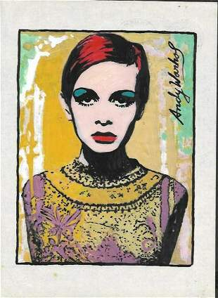 Andy Warhol Mixed Media on Paper