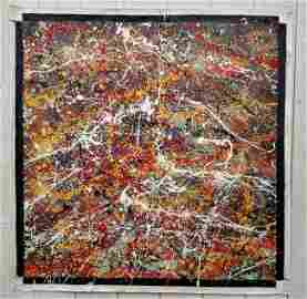 XL JACKSON POLLOCK AFTER, ABSTRACT MODERNIST PAINTING