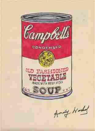 Andy Warhol Mixed Media Drawing