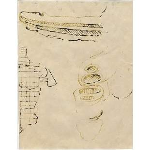Leonardo da Vinci Drawing on Paper