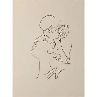 Jean Cocteau Drawing on Paper