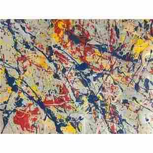 Jackson Pollock Painting On Paper