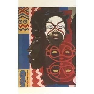 Lois Mailou Jones Painting on Print