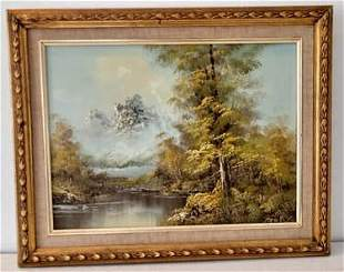 Signed Canada mountain Landscaping oil