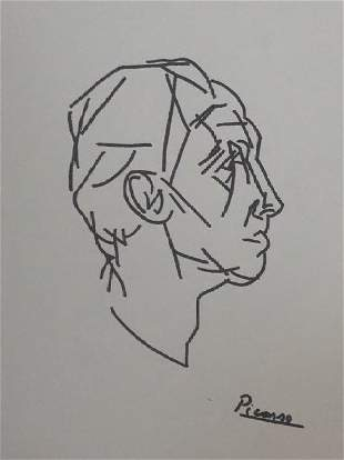 Pablo Picasso Drawing on Paper