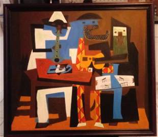 Pablo Picasso Painting on Canvas. Approx Painting Size: